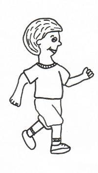 Ein joggender Mann.