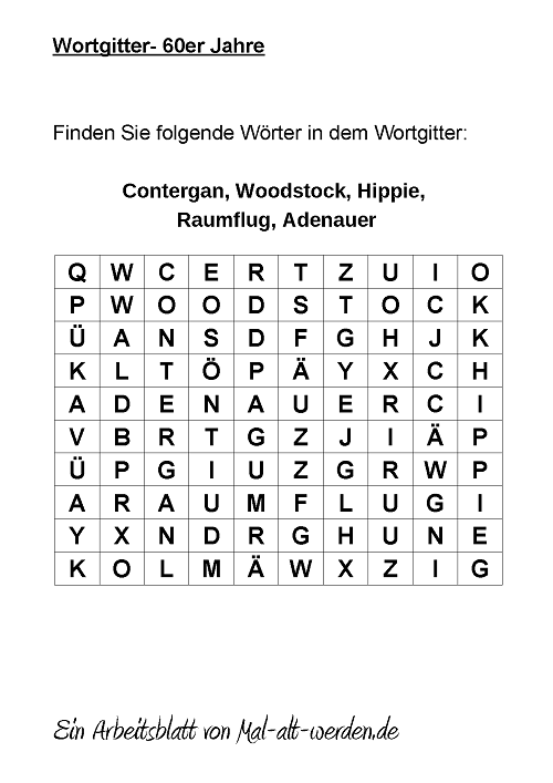 wortgitter-60er jahre