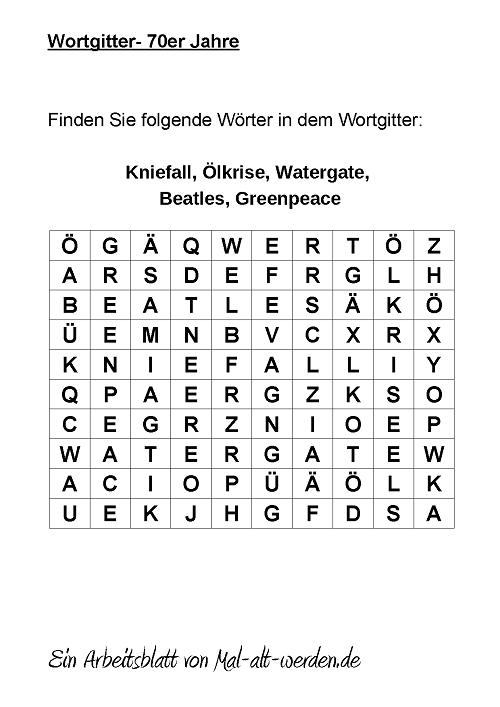 wortgitter-70er jahre