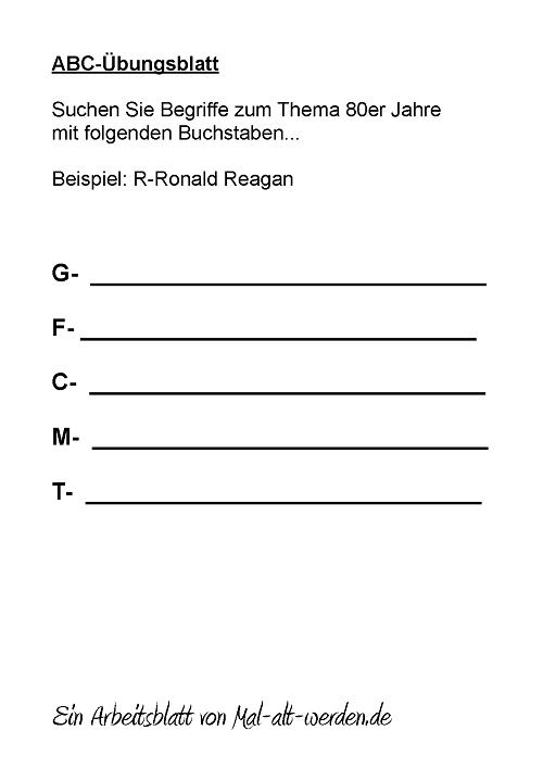 abc-arbeitsblatt-80er jahre