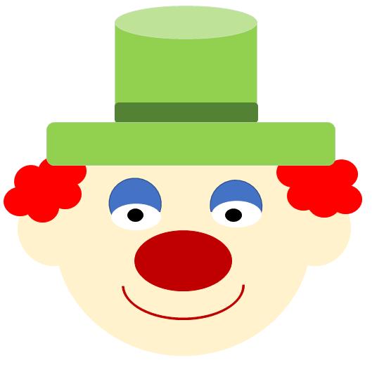 Ein Clown mit Hut