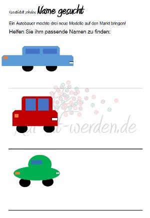 Arbeitsblatt Autos