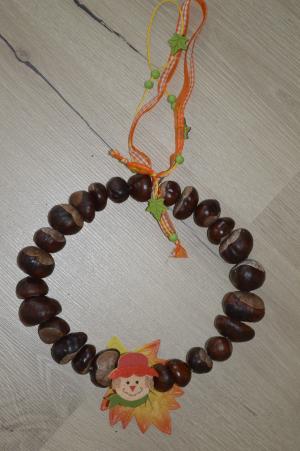 Basteln Mit Kastanien Ein Dekorativer Herbstkranz