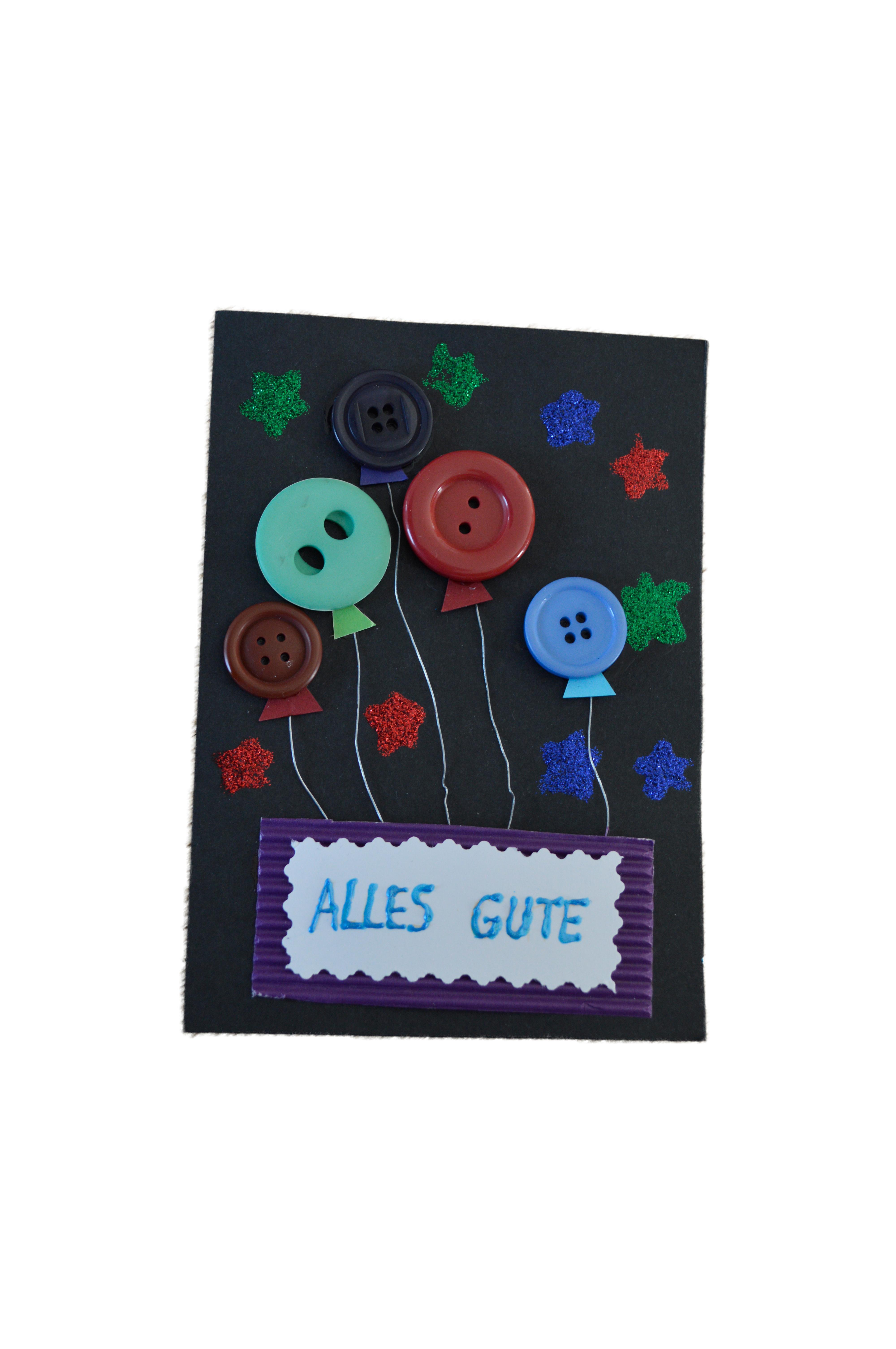 geburtstagskarte mit knopf luftballons basteln etwas knifflig. Black Bedroom Furniture Sets. Home Design Ideas