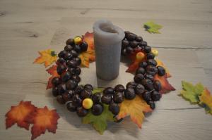 Basteln Mit Kastanien Ein Herbstlicher Kerzenhalter