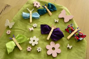 Schmetterlinge Basteln Aus Stoffresten Und Wäscheklammern