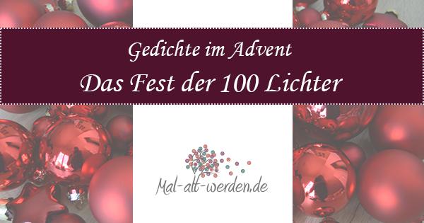 Gedichte Im Advent Das Fest Der 100 Lichter