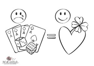 Pech im Spiel, Glück in der Liebe. Ein Bilderrätsel als